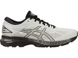 GEL-KAYANO 25, GLACIER GREY/BLACK
