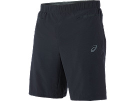 WOVEN SHORT 9IN, Performance Black/Dark Grey
