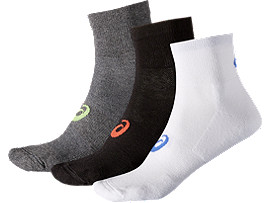 3PPK QUARTER SOCK, Color Assorted