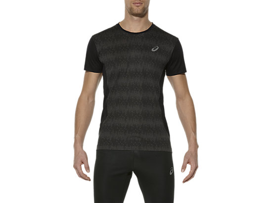 ELITE TOP MET KORTE MOUWEN, Octagon Performance Black