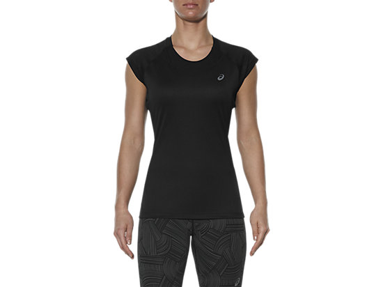 CAPSLEEVE TOP, Performance Black