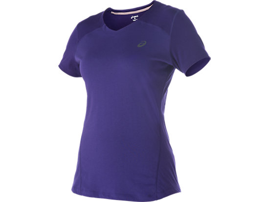 V-NECK SHORT SLEEVE TOP, Parachute Purple