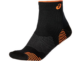 RUNNING DENSITY CUSHIONING SOCK, Performance Black/Orange Pop