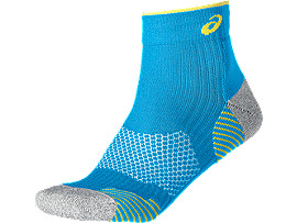 RUNNING DENSITY CUSHIONING SOCK, Diva Blue/Blazing Yellow