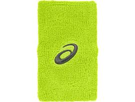 ASICS TERRY DOUBLE WIDE WRISTBAND, Energy Green
