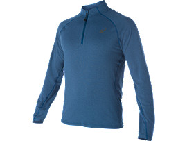 LONG SLEEVE HALF ZIP JERSEY , Poseidon Heather