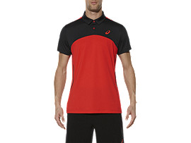 PADEL-POLOSHIRT, Fiery Red