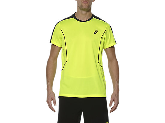 CAMISETA DE MANGA CORTA DE PÁDEL, Safety Yellow