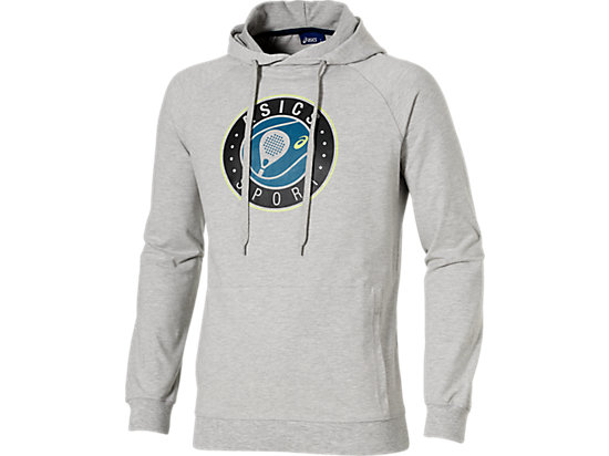 PADEL GRAPHIC HOODIE, Heather Grey