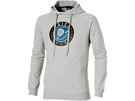 PADEL-HOODIE MIT GRAFIK, Heather Grey
