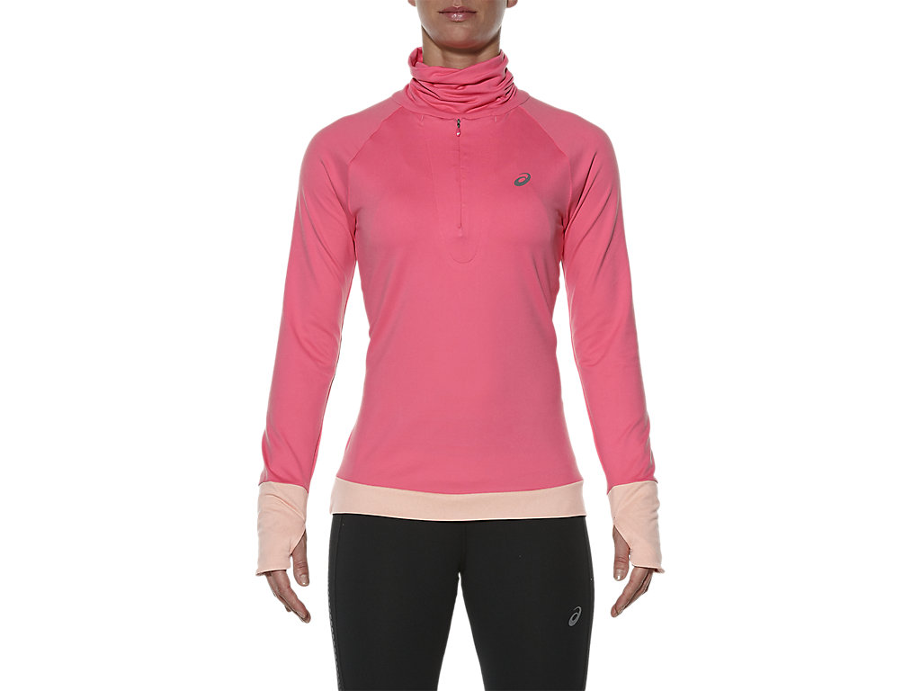THERMOPOLIS HALF-ZIP LONG SLEEVED TOP, Camelion Rose