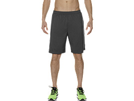2-IN-1 9-INCH RUNNING SHORTS, Dark Grey/Sulphur Spring