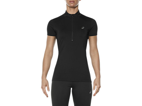 SHORT-SLEEVED HALF-ZIP TOP,