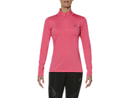 LS 1/2 ZIP TOP, Camelion Rose