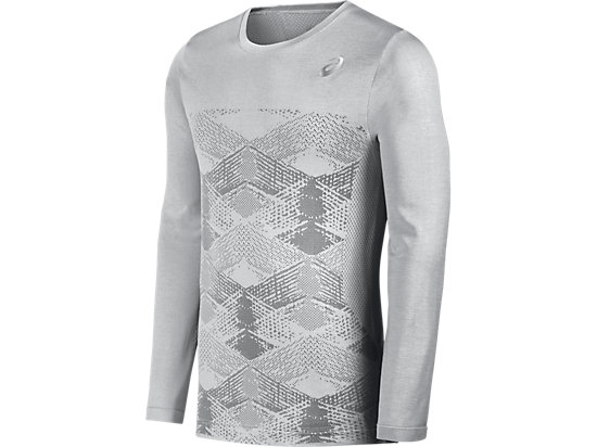 SEAMLESS LONG SLEEVE CREW, Mid Grey