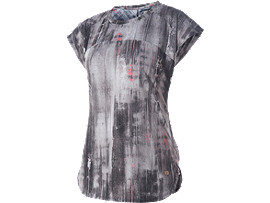 SHORT SLEEVE TOP , Blk/Wh Version Abstract Print