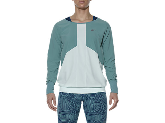 LONG-SLEEVED CREW TOP, Kingfisher