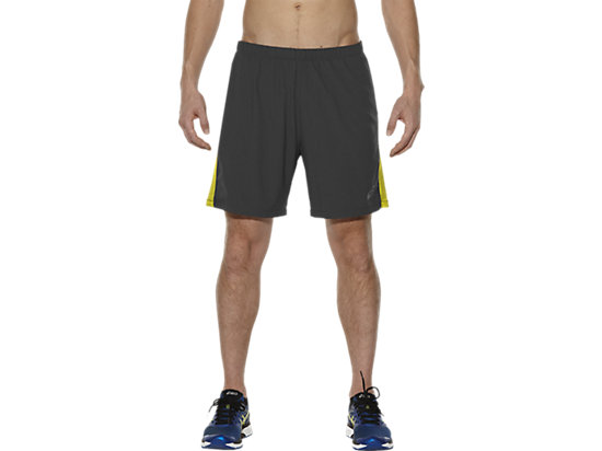 "2-IN-1 LAUFSHORTS 7"", Dark Grey/Sulphur Spring"