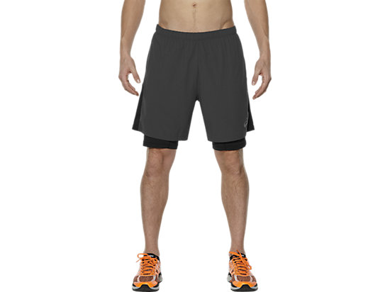 2-IN-1 7 INCH HARDLOOPSHORT, Dark Grey/Performance Black