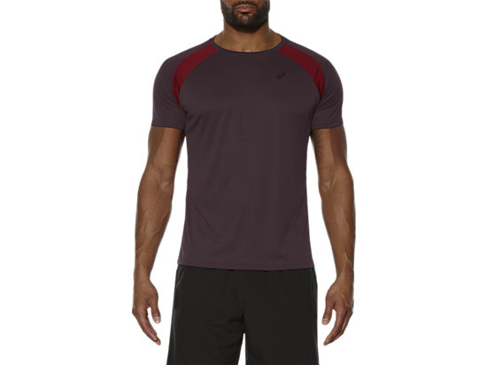 SHORT SLEEVE TECH TOP, Rioja Red