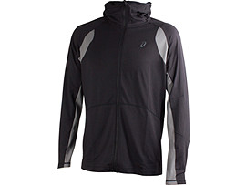 HOODY MET LANGE RITS, Performance Black