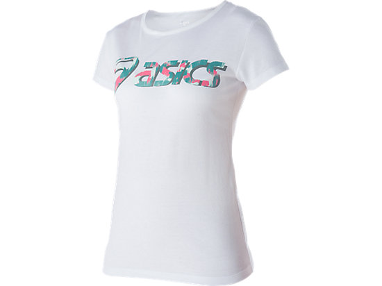 GRAPHIC SHORT SLEEVE TOP, Real White