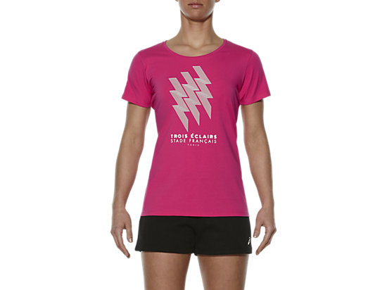 STADE FRANCAIS GRAPHIC TEE, Ultra Pink