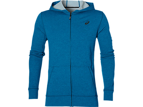 TECH FZ HOODY, Thunder Blue Heather