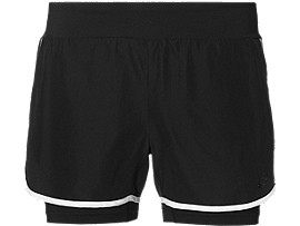 2-IN-1 TRAININGSSHORTS FÜR DAMEN, Performance Black