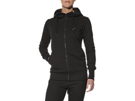 TRAININGS-HOODIE MIT REISSVERSCHLUSS FÜR DAMEN, Performance Black