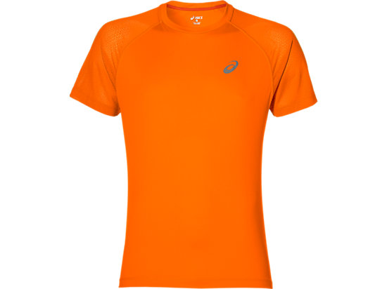 Lite-Show Kurzarm-Lauftop für Herren, Orange Pop