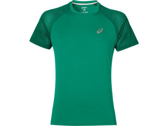 Camiseta de running de manga corta Lite-show para hombre, Jungle Green Heather