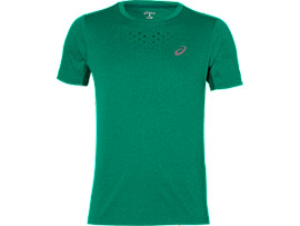 STRIDE SS TOP, Jungle Green Heather