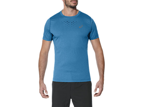 STRIDE SS TOP, Thunder Blue Heather