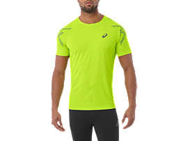 ASICS STRIPE SS TOP, Energy Green