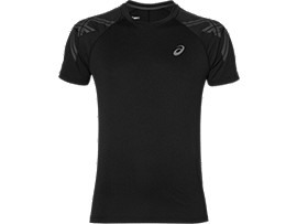 ASICS STRIPE SS TOP, Performance Black