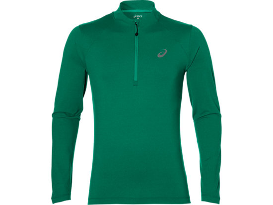 LS 1/2 ZIP JERSEY, Jungle Green Heather