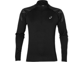 ASICS STRIPE 1/2 ZIP, Performance Black