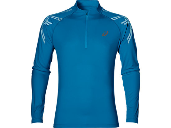 ASICS STRIPE 1/2 ZIP, Thunder Blue