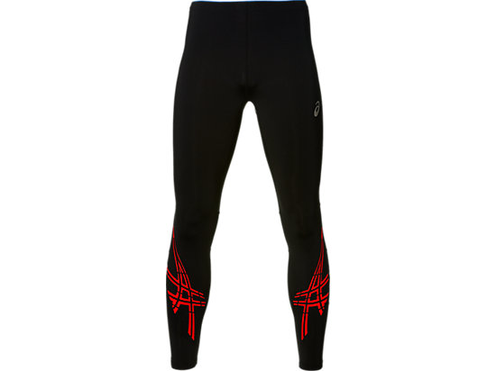 ASICS STRIPE TIGHT, Performance Black/Fiery Red