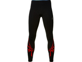 COLLANT ASICS STRIPE, Performance Black/Fiery Red