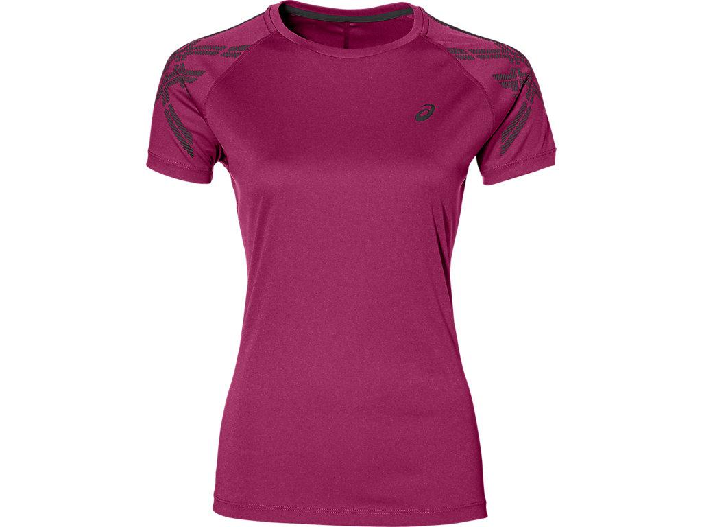 Women Clothing Short-Sleeve Tops Magenta Asics Essentials Short Sleeve Running Tee