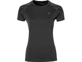 CAMISETA DE RUNNING CON FRANJAS ASICS PARA MUJER, Dark Grey Heather