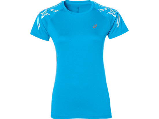 ASICS STRIPE SS TOP, Diva Blue Heather