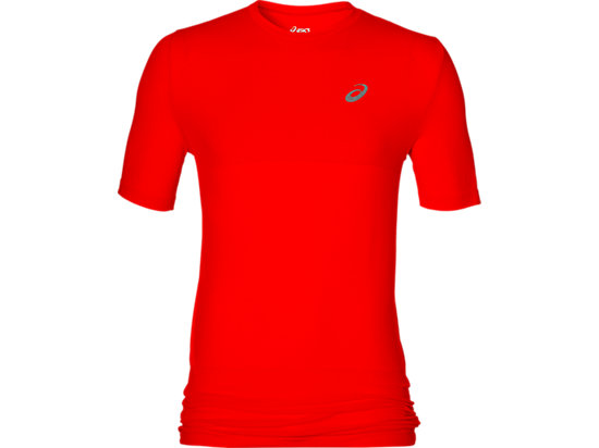 FUZEX SEAMLESS SHORT SLEEVE TOP, Fiery Red