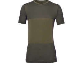 FUZEX SEAMLESS SHORT SLEEVE TOP, Martini Olive