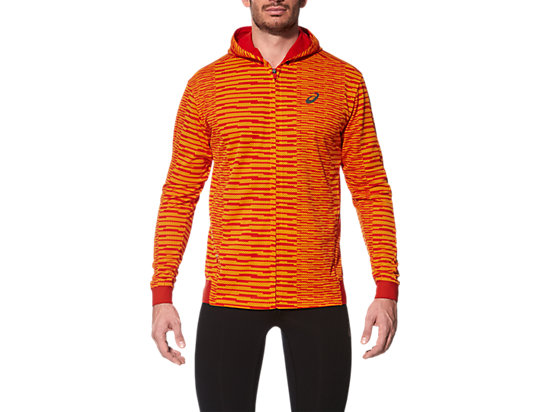 CHAQUETA DE RUNNING FUZEX DE MALLA PARA HOMBRE, Sq Orange Pop