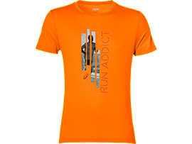 GRAPHIC SS TOP, Orange Pop