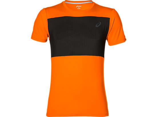TRAININGTOP MET KORTE MOUWEN VOOR HEREN, Orange Pop