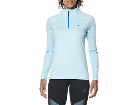 LS 1/2 ZIP JERSEY, Aqua Splash Heather